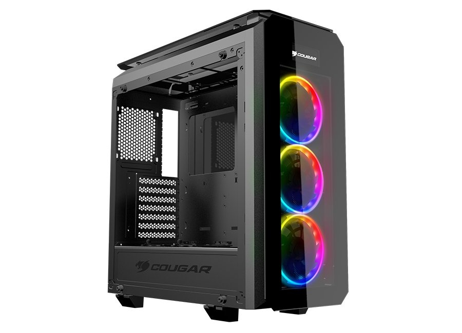 Cougar PURITAS RGB Glass Gaming Tower 3 x Vortex RGB LED Fan