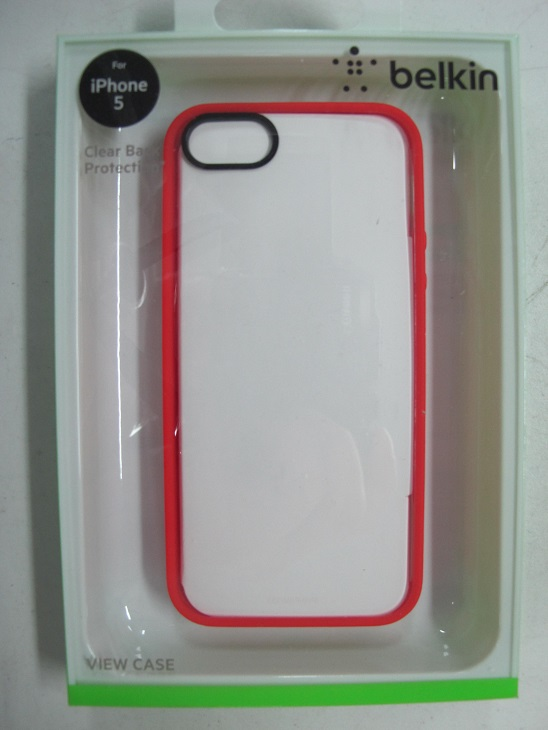 low priced 52a3e 37329 BELKIN Ruby Trim /Clear Back Case For iPhone 5 and iPhone 5s F8W153qeC05