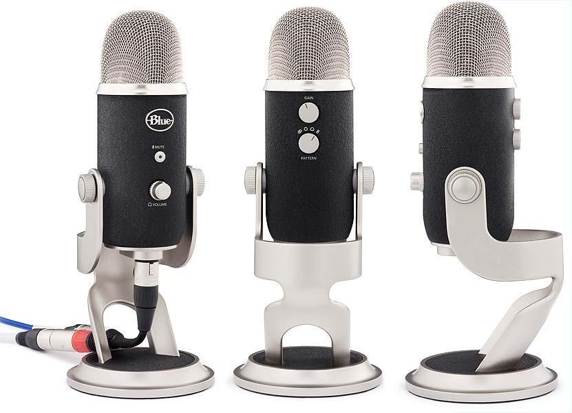 blue yeti pro silver usb xlr microphone 3 capsule 4 pattern setting 836213001967. Black Bedroom Furniture Sets. Home Design Ideas