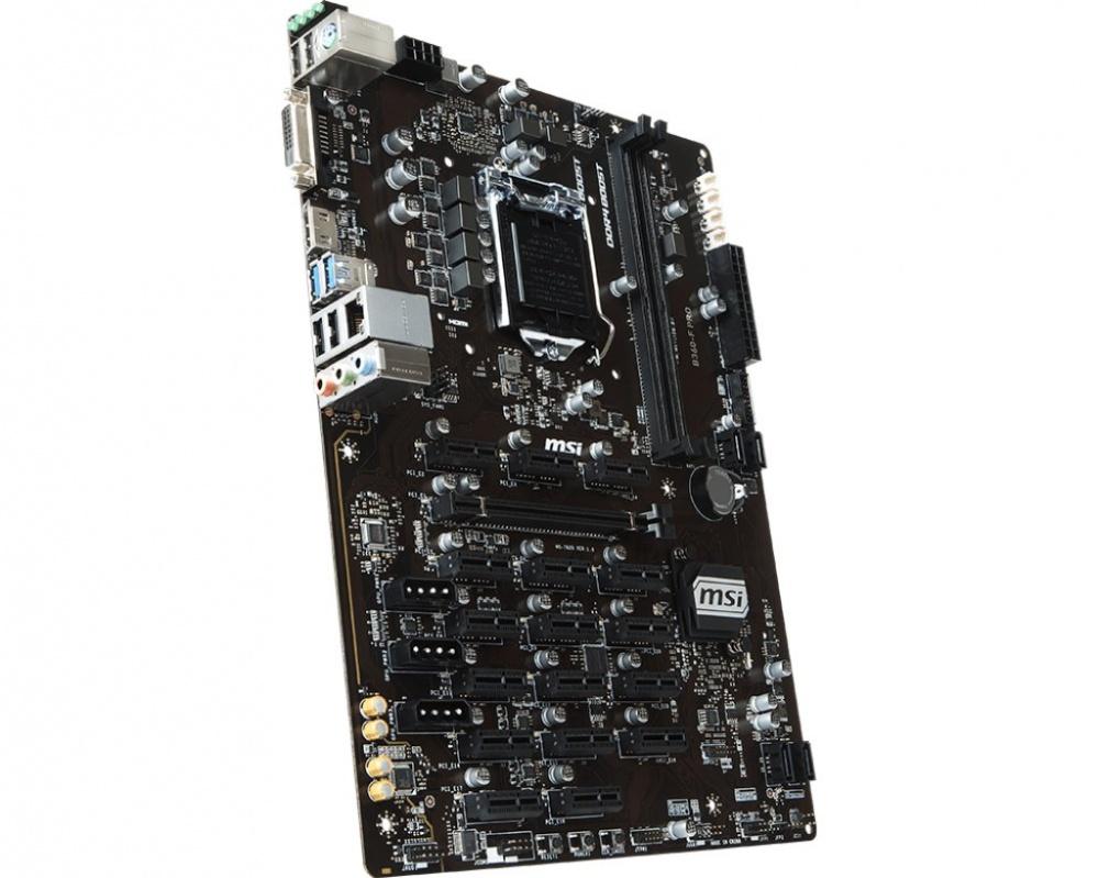 MSI B360-F PRO (MINING) Motherboard Socket1151 - DDR4 - USB 3 1 - 17x PCIe  Slot