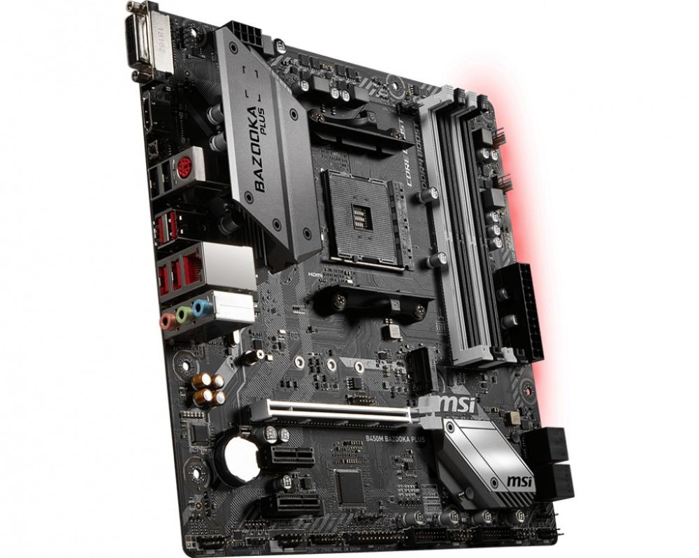 MSI B450M BAZOOKA PLUS - Micro-ATX - DDR4 - M 2 - HDMI/DVI-D - USB 3 1 Gen1
