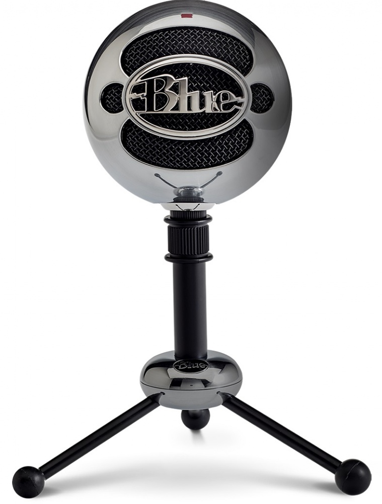 blue snowball brushed aluminum dual mic capsule usb microphone with stand 836213001936. Black Bedroom Furniture Sets. Home Design Ideas