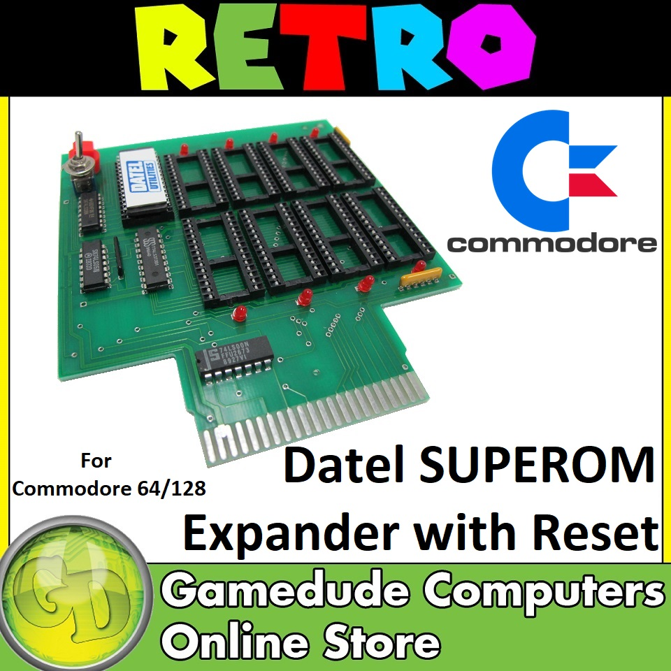 Datel SUPEROM Expander with Reset for Commodore 64/128