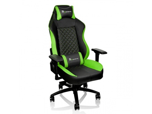 THERMALTAKE GTC 500 Black and Green Gaming Chair Comfort Series GC-GTC-BGLFDL-01