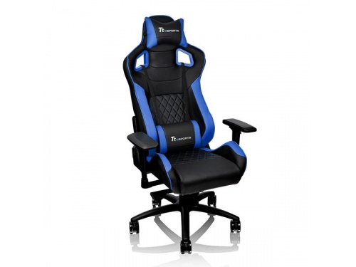 THERMALTAKE GTF 100 Black and Blue Gaming Chair FIT Series GC-GTF-BLMFDL-01