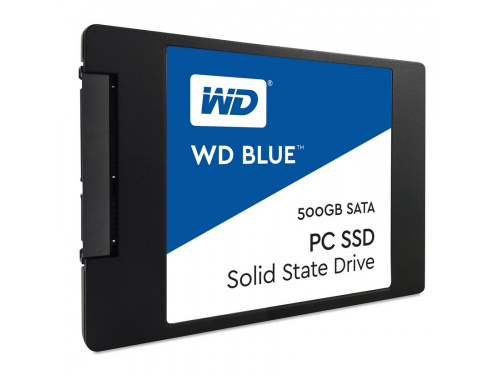 Western Digital BLUE Series 500GB SSD WDS500G1B0A SATA3 6Gb/s Read 545MB/S Write 525MB/S Retail