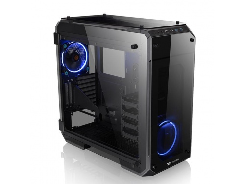 THERMALTAKE CA-1I7-00F1WN-00 <b>VIEW 71 Tempered GLASS Window</b> 140mm Riing Blue x 2 E-ATX