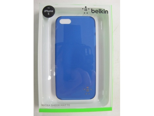 BELKIN Blue Trim /Blue Sheer Back Case For iPhone 5 and iPhone 5s F8W095qec03