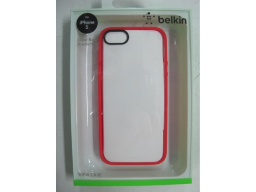 BELKIN Ruby Trim /Clear Back Case For iPhone 5 and iPhone 5s F8W153qeC05