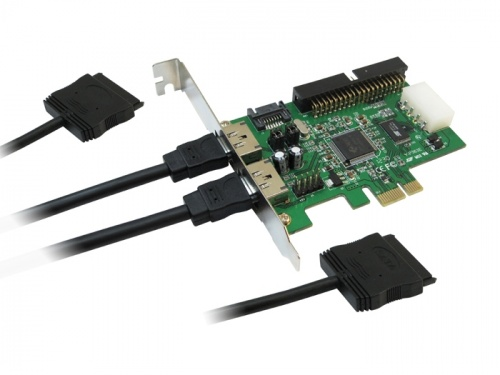 WELLAND EZSTOR EPC-221 Power Over eSATA PCI Express RAID Card 2x External SATA 1x IDE