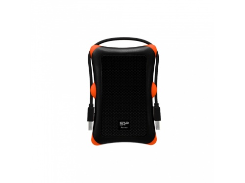 Silicon Power 1tb ARMOR A30 Shockproof USB 3.1 Gen1 Portable HardDrive (BLACK) SP010TBPHDA30S3K