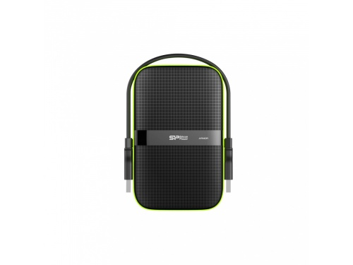 Silicon Power 1tb ARMOR A60 Shockproof USB 3.1 Gen1 Portable HardDrive (BLACK) SP010TBPHDA60S3K