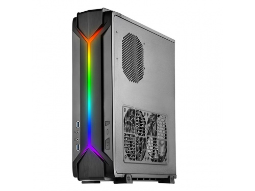 SilverStone RAVEN Series SFF Desk/Tower Case No PSU - Mini DTX / ITX - USB 3.0 - BLACK - ARGB MODEL : SST-RVZ03B-ARGB