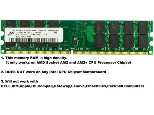 4gig Ddr2 800 Pc6400 High Density Only Work On With Amd