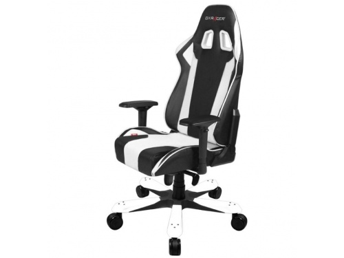 DXRacer KS06 WHITE King Series Gaming Chair Style Neck Lumbar Support