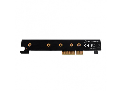 SilverStone ECM26 M.2 NVMe SSD to PCI-E X4 1U Adapter Card - PCIe 4.0 - M key MODEL : SST-ECM26