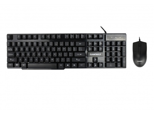 GameMax GM-1K100 Black Desktop  USB Keyboard and Mouse Combo