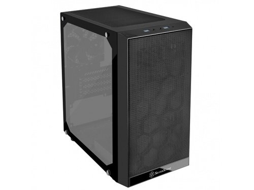 SilverStone PRECISION Series Tower Case No PSU - Micro ATX - USB 3.0 - TG Side Panel MODEL : SST-PS15B-G