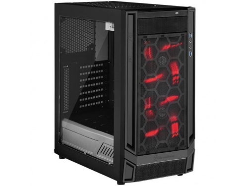 SilverStone REDLINE Series Tower Case No PSU - ATX / Micro ATX - USB 3.0 Type C Black / Black - WINDOW MODEL : SST-RL05BB-W