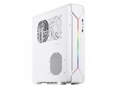 SilverStone RAVEN Series SFF Desk/Tower Case No PSU - Mini DTX / ITX - USB 3.0 - WHITE - ARGB MODEL : SST-RVZ03W-ARGB