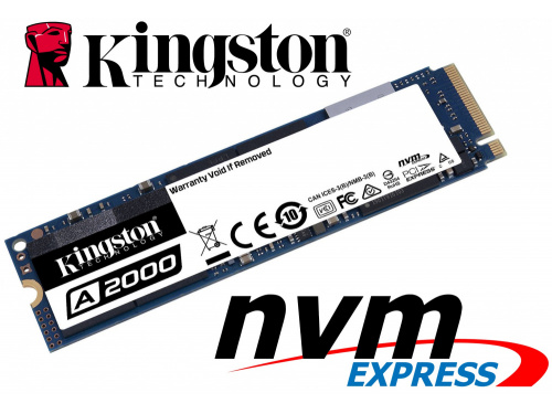 KINGSTON SA2000 1000GB M.2 NVMe SSD 2280 - Model:  SA2000M8/1000G