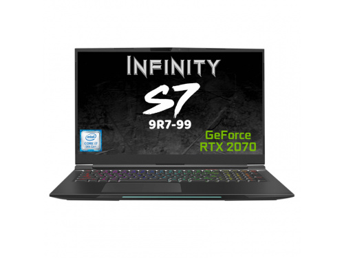 "INFINITY S7-9R7-99 Gaming Notebook i7-9750H 17.3"" FHD 144Hz 16GB RAM 1TB SSD RTX2070 Win 10"