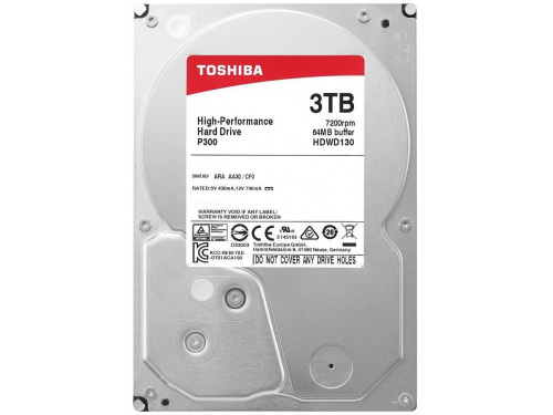 TOSHIBA 3TB SATA-3 HDD 64meg Buffer 7200rpm - PC P300 HDWD130UZSVA - High Performance