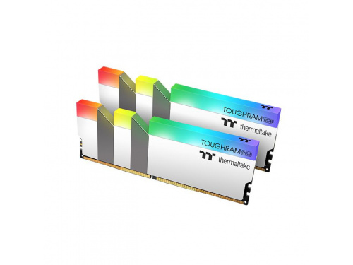 THERMALTAKE 32gb (2x 16gb) TOUGHRAM RGB Kit DDR4 3200Mhz - 16-18-18-36 1.35v   WHITE MODEL : R022D416GX2-3200C16A